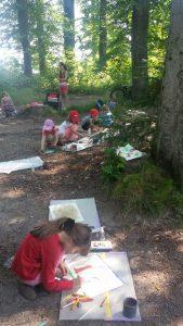 Ferienprogramm Malen im Eichental / Kreativ-Oase auf Achse