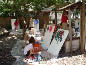 Im Montessori-Garten / Kreativ-Oase auf Achse